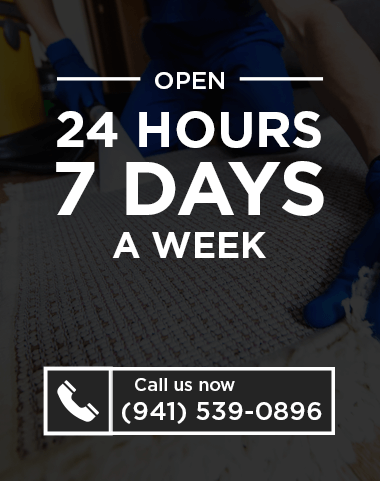 """Poster-styled image with text saying """"Open 24 hours 7 days a Week"""" with telephone number."""