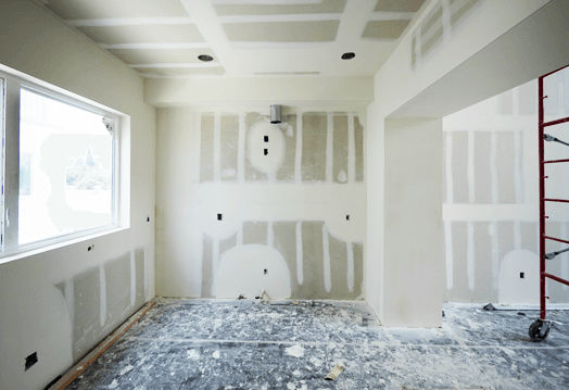 Image of drywall ready to be painted.